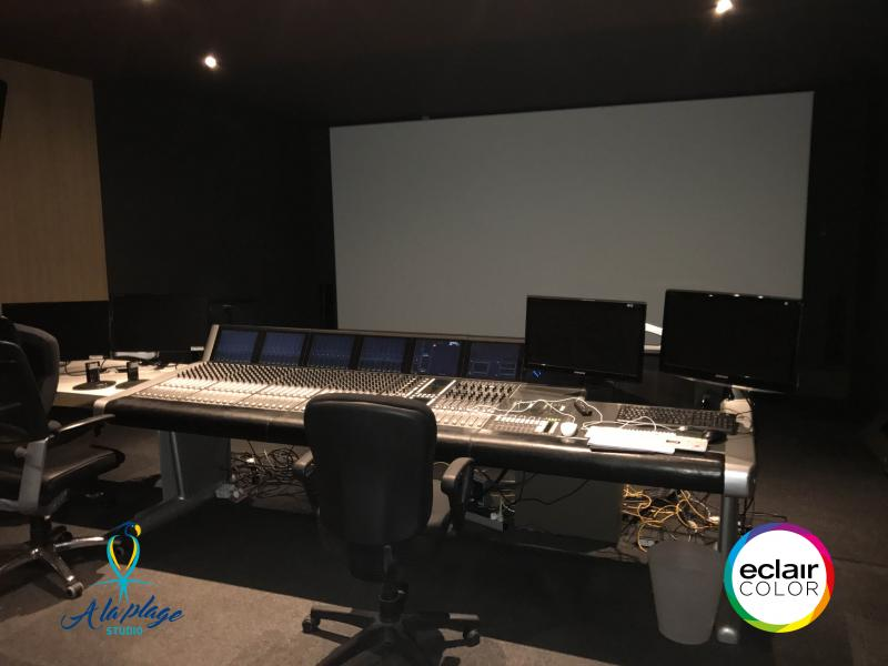 sound mix auditorium a la plage paris EclairColor certified