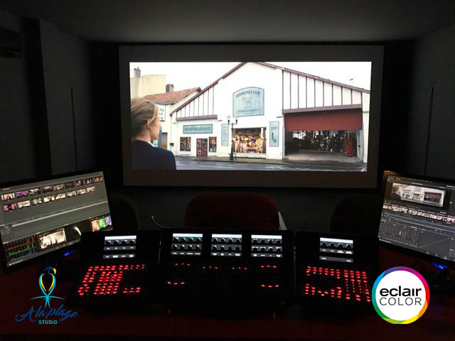 Color grading room in A la Plage Studio: EclairColor certified